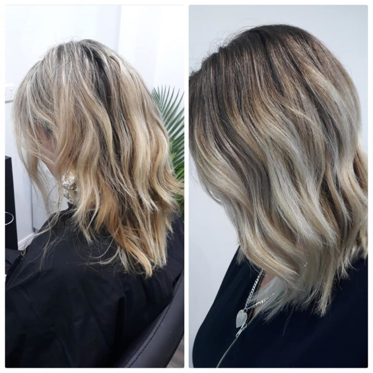 Karmeleon eco hair balayage, hairdresser Palm Cove, Cairns